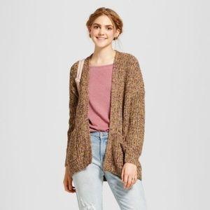 NEW Chunky Knit Boyfriend Cardigan Sweater sz XS